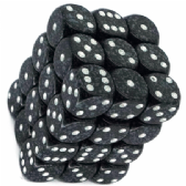 Black & Grey 'Ninja' Speckled 12mm D6 Dice Block